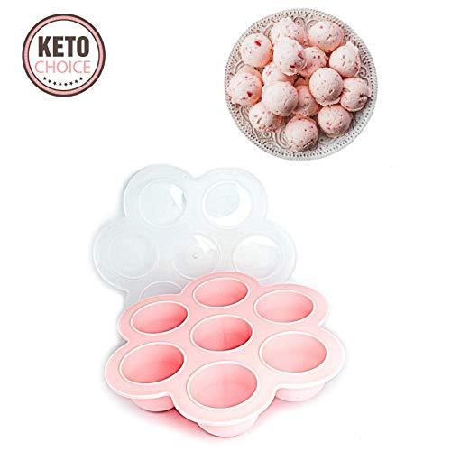 Keto Fat Bomb-Dessert-Formen und Rezept-Tablett mit einfacher und einfacher Kohlenhydrat-Behälter, mit hohem Fettgehalt