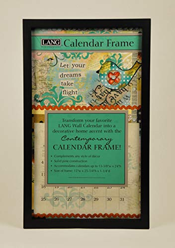 Lang Perfect Timing - Contemporary Black Calendar Frame,
