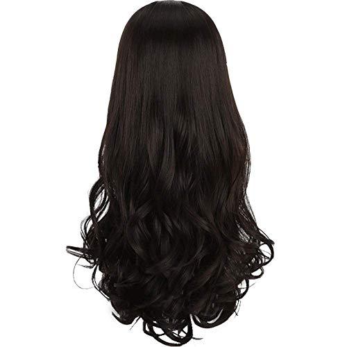 pruiken Halve pruik vrouwelijk lang krullend haar groot golvend kort haar verandering lang haar naadloze haarverlenging