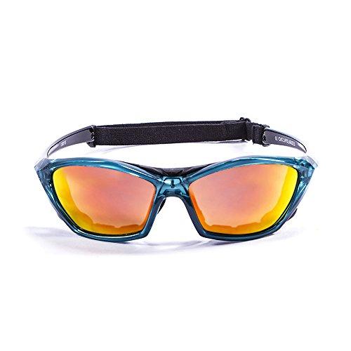 Ocean Sunglasses - lake garda - lunettes de soleil polarisées - Monture : Bleu Transparent - Verres : Revo Jaune (13001.5)