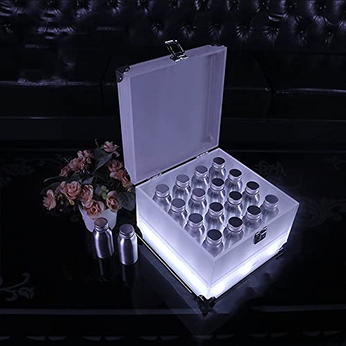 Soporte De Caja De Vino Luminoso LED para Barra, Soporte De Copa De Aluminio para Botella De Cóctel, Soporte De Copa De Playa KTV, Soporte De Copa Luminoso De Champán Y Vino,Type A