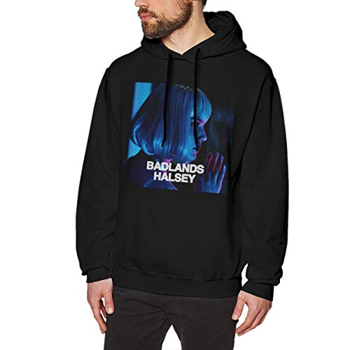 maichengxuan 3D Print Men's Hoodie, Halsey - Badlands Fashion Men's Hoodie Black