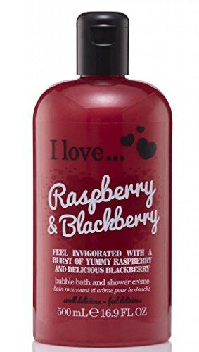 I Love... Raspberry & Blackberry Bubble Bath And Shower Creme 500ml