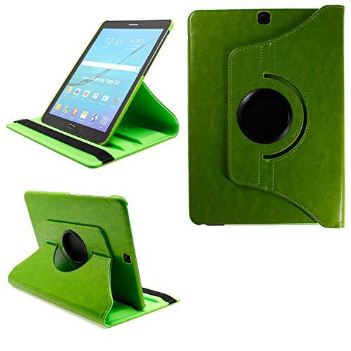COOVY® 2.0 Cover für Samsung Galaxy Tab S2 9.7 SM-T810 SM-T813 SM-T815 SM-T819 Rotation 360° Smart Hülle Tasche Etui Hülle Schutz Ständer Auto Sleep/Wake up | grün