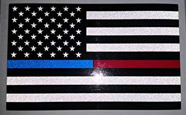 Reflective blue red 4inch flag, funny, humorous, joke, I Make Decals 4inch x 6.5 inch, Hard Hat, phone, tool, lunch, box, Vinyl, Decal, Sticker