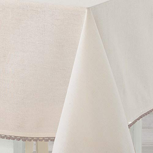 charme & douceur nappe rectangle 140x240cm coton femina naturel