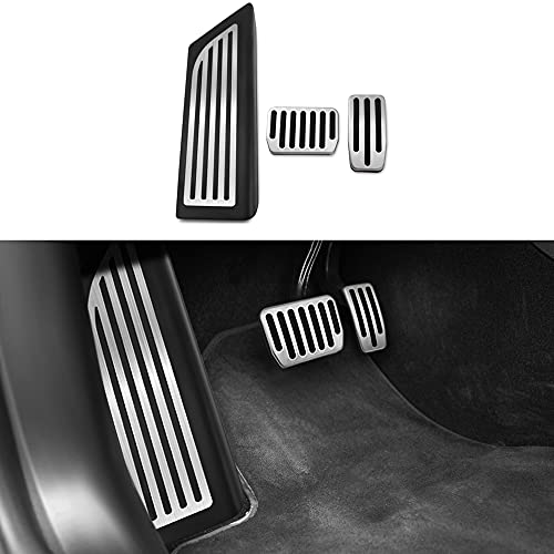 CQZHK Acelerador de Pedal de Coche Pedal de Freno de Combustible de Gas Acero Inoxidable Cubierta de Pedal de Descanso Accesorios de Estilo para Tesla Model 3 2017 2018 2019