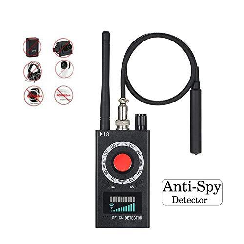 WLKQ Wanzen-Detektor, GPS-Verfolger, Anti-Spion-Kamera-Detektor, Wireless Signal Pinhole Laser-Objektiv-GSM-Detektor Ultrahohe Empfindlichkeit Full-Range Tracker Finder