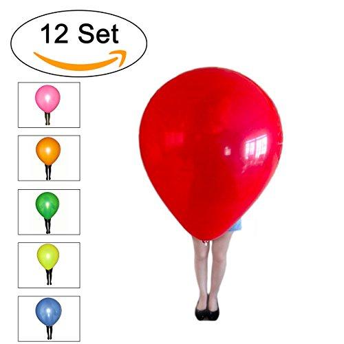 Riesen-Luftballons XXL bunt - Umfang ca. 260cm !!! - Qualitätsware für Geburtstag, Hochzeit, Party, Festival (12)