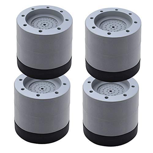 Fenteer 4 stück Anti-Walk Stille Füße Anti-Vibration Waschmaschine und Trockner Maschine Boden Pads (Grau) - 6cm