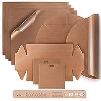 Amazy Papel de Horno Reutilizable (7 unids) – Papel para horno resistente, antiadherente y apto para lavavajillas