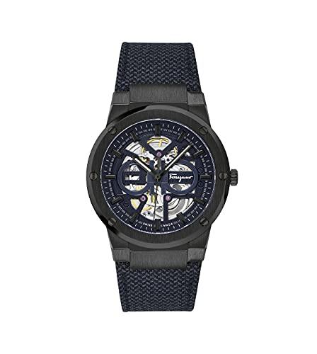 Salvatore Ferragamo F-80 Skeleton SFCX00420 - Reloj de pulsera automático para hombre (41 mm)