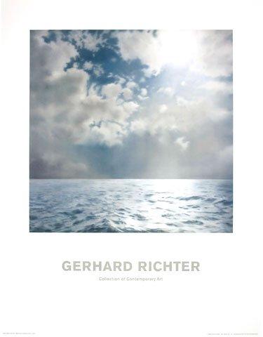 Kunstdruck/Poster: Gerhard Richter Seestück Gegenlicht - hochwertiger Druck, Bild, Kunstposter, 70x90 cm
