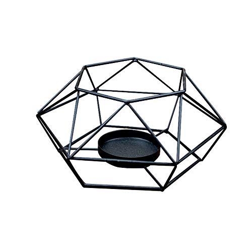 1 Stück Stahl Geometrische Kerzenhalter Teelicht Nordic Minimalist Stil Kleine Kerzenhalter Dekoration Matching (01)
