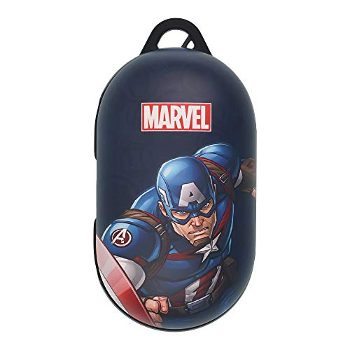 Avengers Galaxy Buds Case Protective Hard PC Shell Cover Compatible with Galaxy Buds & Galaxy Buds Plus (Buds+) - Cartoon Captain America