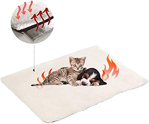 Milai Selbstheizende Decke für Katzen & Hunde, Wärmedecke für Katzen und Hunde,Umweltfreundliche Wärmematte,...