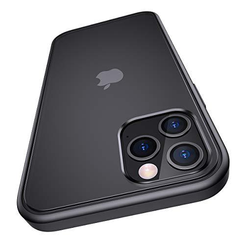 Meifigno Hülle kompatibel mit iPhone 12 & kompatibel mit iPhone 12 Pro [Militärgeprüft], Matter PC mit weichen Rahmen, stoßfeste Handyhülle kompatibel mit iPhone 12/12 Pro 6,1