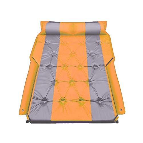 Zjcpow Car Air Bed Camping Accessories For Car Inflatable Car Air Mattress Portable Back Seat Blow-up Sleeping Pad For Travel Vacation Inflatable (Color Name : Black) xuwuhz (Size : Orange)