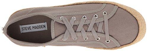Steve Madden Women's Hampton Fashion Sneaker, Grey, 7 M US