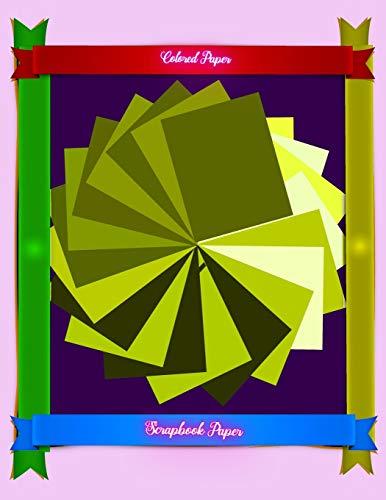 Scrapbook Paper: Colored paper: 15 (Scrapbook Paper Yellow Colored Sheet Series 15)