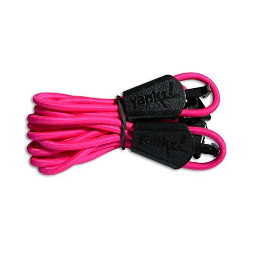 Banda elástica de los juegos de cordones YANKZ, Reflective Pink with White,