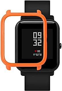 Dealfreez SIKAI Colorful PC Edge Watch Frame Case Cover Protect Bumper Shell for Amazfit Bip Youth Watch (Orange)