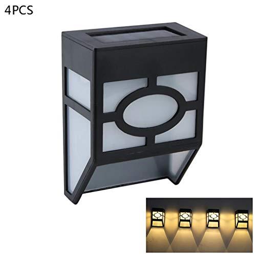 S-TROUBLE Solarzaunleuchten, 2 Modi Solar-LED-Außenwandleuchten für Deck, Zaun, Patio, Haustür, Treppe, Landschaft, Hof und Auffahrt, Warmer Bernstein/Farbwechsel, 8er-Pack