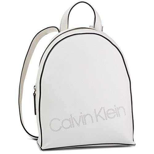 Calvin Klein Ck Must Psp20 Sml Backpack P - Borse Tote Donna, Bianco (White), 0.1x0.1x0.1 cm (W x H L)
