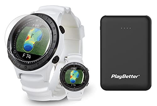 Voice Caddie A2 Hybrid Golf GPS Watch Power Bundle   Includes PlayBetter Portable Charger & HD Screen Protectors   2021 Golf Watch for Men & Women   Slope Mode, Color Touchscreen   Green Undulation