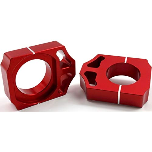 Works Connection Elite Axle Blocks (RED) for 09-21 Honda CRF450R