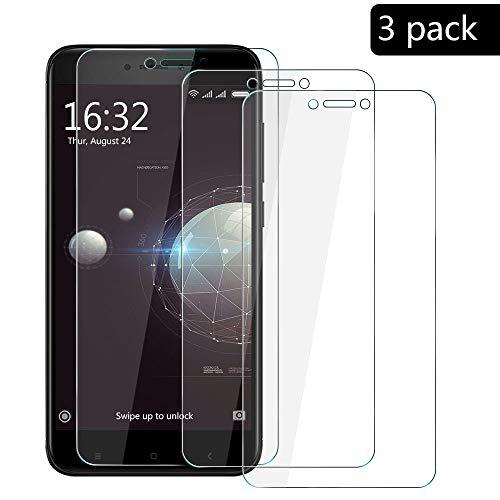 XCYYOO [3-Pack] Xiaomi Redmi Note 4X Protector de Pantalla, Cristal Vidrio Templado [Alta Definicion] [Cobertura Completa] Premium Protector Vidrio Templado