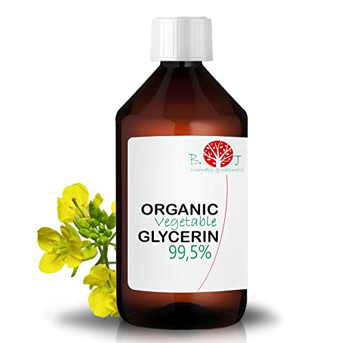 Glycérine Végétale Organique pure 99.5 % glycérol 100% végétale, Base Liquide Bio Glycerine Gel hydroalcoolique Alimentaire garantie sans OGM e liquide, savon, 1000 ml 1.32 kg