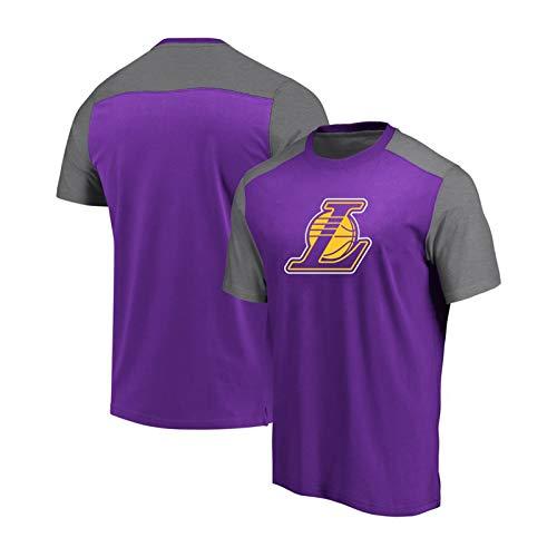 Los Angeles Laker - Camiseta de manga corta, transpirable, resistente al desgaste, para hombre morado M