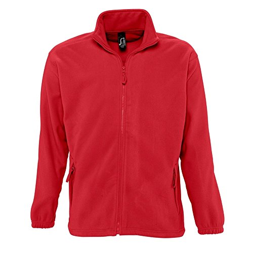 Sols Herren Outdoor Fleece Jacke North (Large) (Rot)