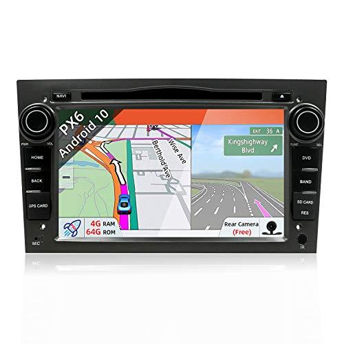 JOYX Android 9.0 Autoradio Passt für Opel Vauxhall Antara Astra Zafira Corsa Meriva - GPS 2 Din - Rückfahrkamera Canbus KOSTENLOS - 4G+64G - 7 Zoll - Unterstützen DAB+ Lenkradsteuerung 4G WiFi BT USB