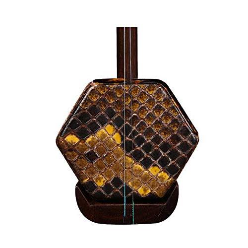 Erhu Musikinstrumente, Qingming Altmaterialien Alt Mahagoni Erhu, Spielen Erwachsene Musikinstrumente for Anfänger, Sechs-Parteien-Folk-Instrumente, Holzschaft + Shock Box DUZG (Color : Old Redwood)