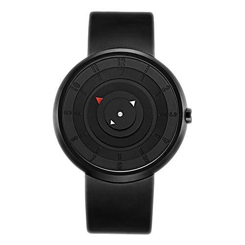 Smartwatches,Einfache Kreative Uhr-Einzelne Plattenspieler-Anzeige-Weniger Freizeit-Mode-Konzept-Gezeiten-Uhr D