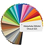 D008 Oracal 621 - Láminas adhesivas para plóter (21 x 29,7 cm, DIN A4), color amarillo azufre