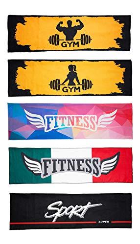 NADIAK Toalla de gimnasio, toalla de microfibra para hombre y mujer, deporte, fitness, gimnasio, fabricada en Italia