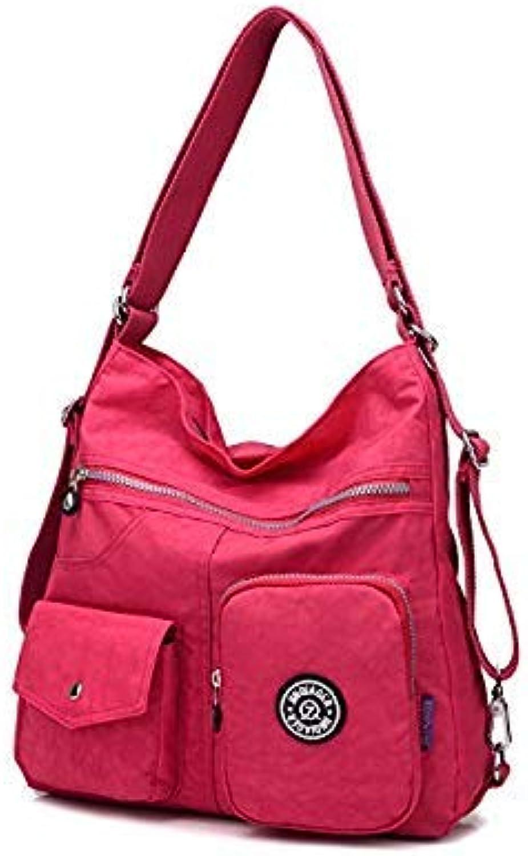 Bloomerang Durable Women Double Shoulder Bags Waterproof Nylon Lady Sling Messenger Bag Female Crossbody Bags for Women Handbag bolsas sac color Hot Pink