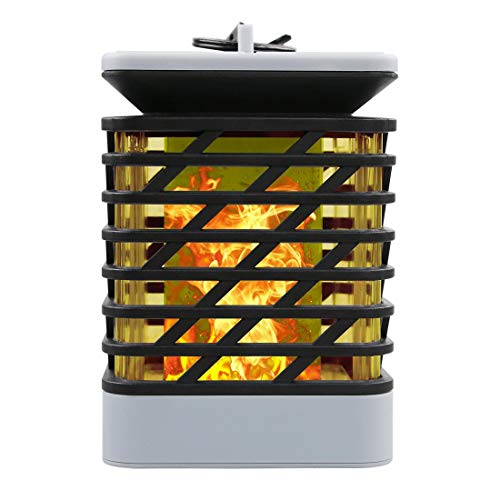 Solar-Außenbeleuchtung, LED, wasserdicht, Simulation blinkende Flamme, solarbetrieben, Landschaftsbeleuchtung, Flammenlichter