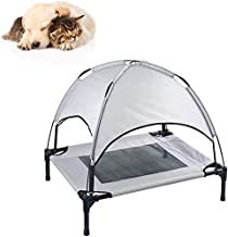 Small pet bed GPFFACAI Dog Cot with Canopy Elevated Pet Bed with Canopy Raised Dog Pet Bed Tent Indoor Outdoor Bed Portabl...