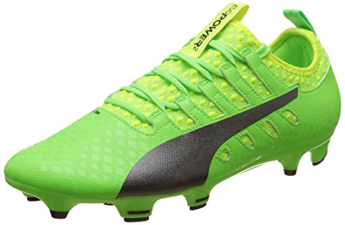Puma Herren EvoPower Vigor 2 FG Fußballschuhe, Grün (Green Gecko Black-Safety Yellow 01), 43 EU