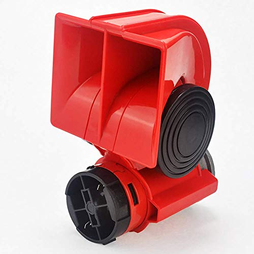 CCVV 125Db Dual Tone Elektro-Horn, 12 V Super Laut Schnecke Air Horn, Compact, Uesd Für PKW/LKW/Motorrad/Boot (Rot)