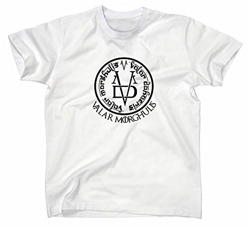 Valar Morghulis GoT T-Shirt, All Men Must Die, M, weiss