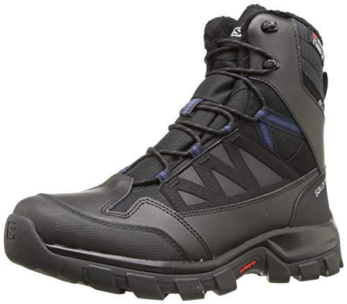 Salomon Men's Chalten TS CSWP Snow Boots, Black/Black/Sargasso Sea, 10.5