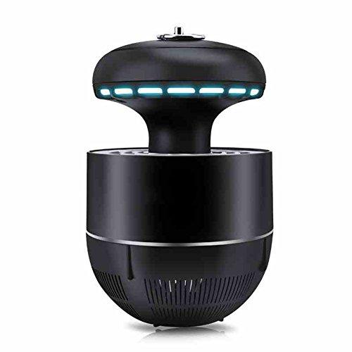 LIQICAI Insektenvernichter Tragbar UV Fliegenfalle Gleichstrom Steckdose 220V/7W Stille Energieeinsparung, Φ8x15cm (Farbe : SCHWARZ)