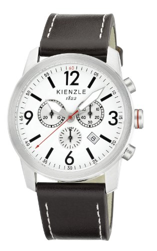 Kienzle Herren-Armbanduhr XL Chronograph KIENZLE CORE Analog Quarz Leder K3091012021-00320