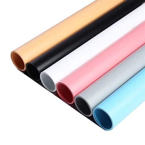 Selens PVC Hintergrund 50x100cm Wasserdicht Fotografie Hintergründe Matte Background für Fotografie Fotostudio 6 Stück (6 Farbe)