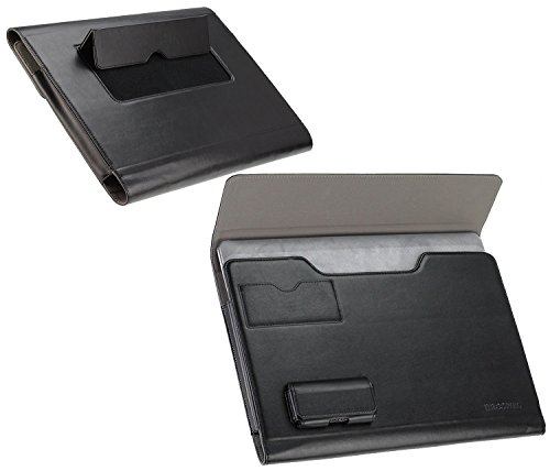 Navitech Broonel - Prestige - Black Laptop Folio Case Cover Compatible With TheArchos 140 Cesium/FUJITSU Notebook LIFEBOOK U745 & U904